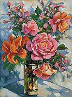 Алмазная вышивка Белоснежка Натюрморт с розами 30х40 см RN 350, КОД: 1058429