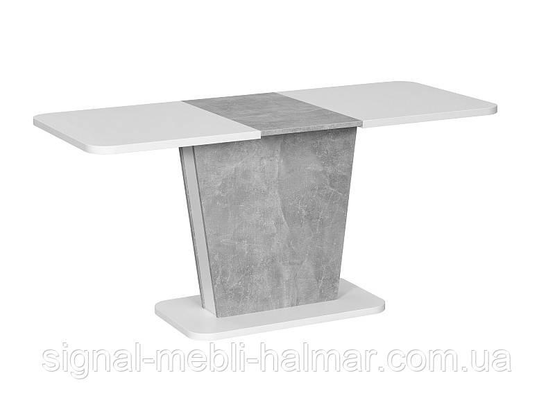 Стол раскладной CALIPSO белый/серый 110(145)x69 (Signal)
