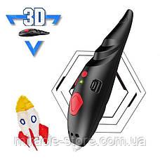 3D ручка на аккумуляторе для объемного рисования детская с трафаретами и пластиком Constract Toys, фото 3