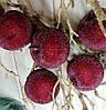 Декоративные подвесные яблоки,  набор 4шт*8,5 см
