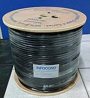 Коаксиальный кабель INFOCORD F 690 BV black (Бухта 305м)