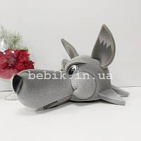 Карнавальна шапка-маска Вовка для дітей і дорослих