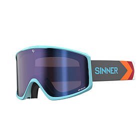 Маска гірськолижна Sinner Sin Valley Matte Light Blue-Blue Mir + Orange КОД: SIGO-183-50-48