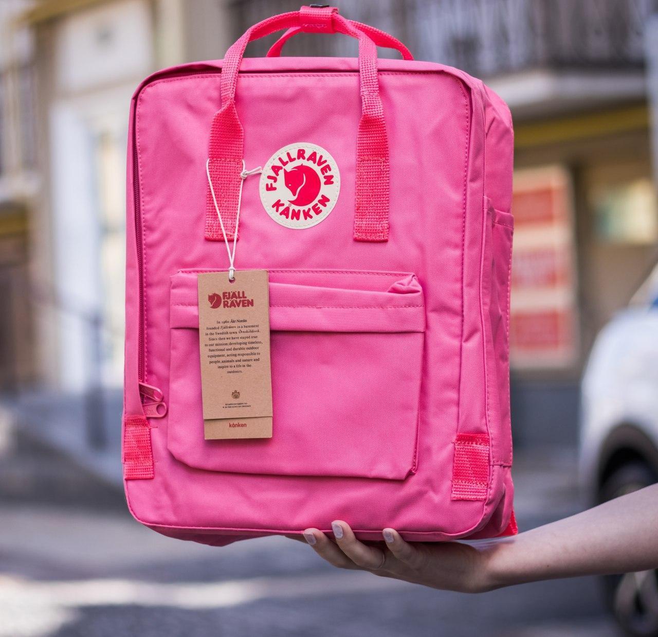 Рюкзак Fjallraven Kanken Classic (Фьялравен Канкен Класик) Pink / Розовый