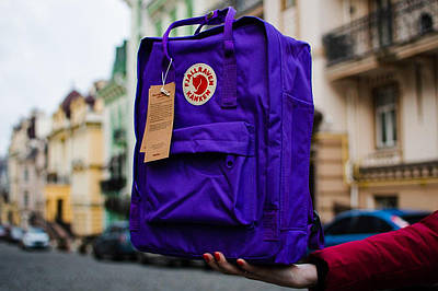 Рюкзак Fjallraven Kanken Classic (Фьялравен Канкен Класик) Purple / Фиолетовый