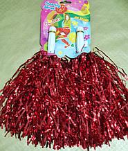 Помпоны для черлидинга красные - 2 шт/ комплект