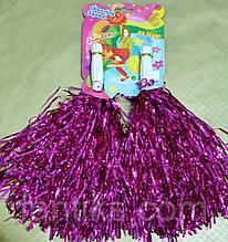 Помпоны для черлидинга розово-сиренеые - 2 шт/ комплект