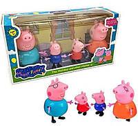 Игровой набор свинка Пеппа, 4 фигурки, набор Peppa Pig, фото 1