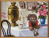 Наборы для вышивания нитками на канве Домовой с гармошкой  СВ 3042