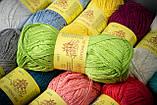 Пряжа хлопковая Vivchari Cottonel 800, Color No.4003 желтый, фото 4