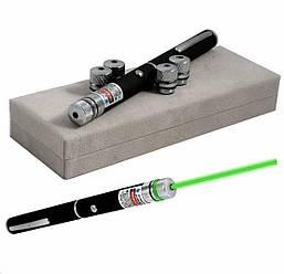 Зелена лазерна указка (лазер) Green Laser Pointer (5 насадок)