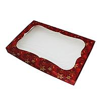 "Коробка для пряников 200х150х30 мм (с окном) ""Красный снег"""