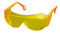 Очки защитные открытые прозрачные желтые Украина 16-523 | Окуляри захисні відкриті прозорі жовті Украина