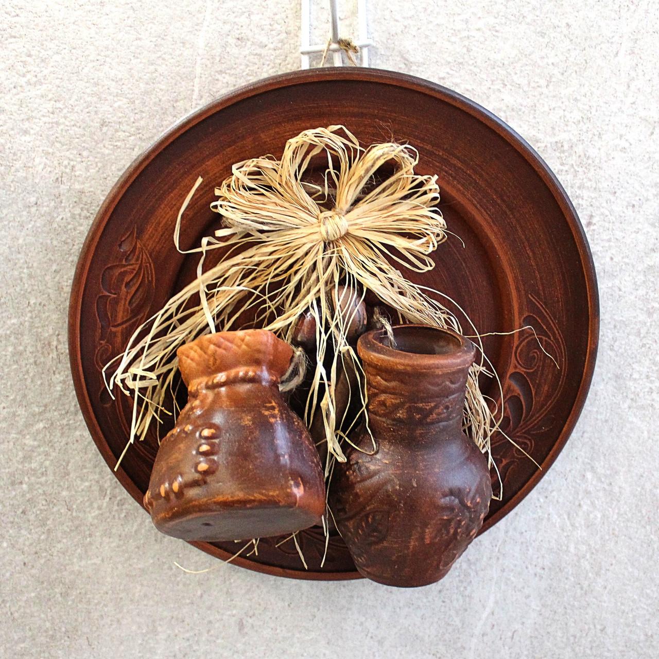 Тарілка декоративна підвісна Оберіг, керамічний оберіг для дому