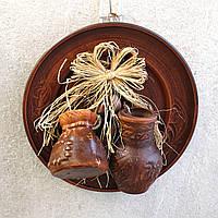 Тарілка декоративна підвісна Оберіг, керамічний оберіг для дому, фото 1