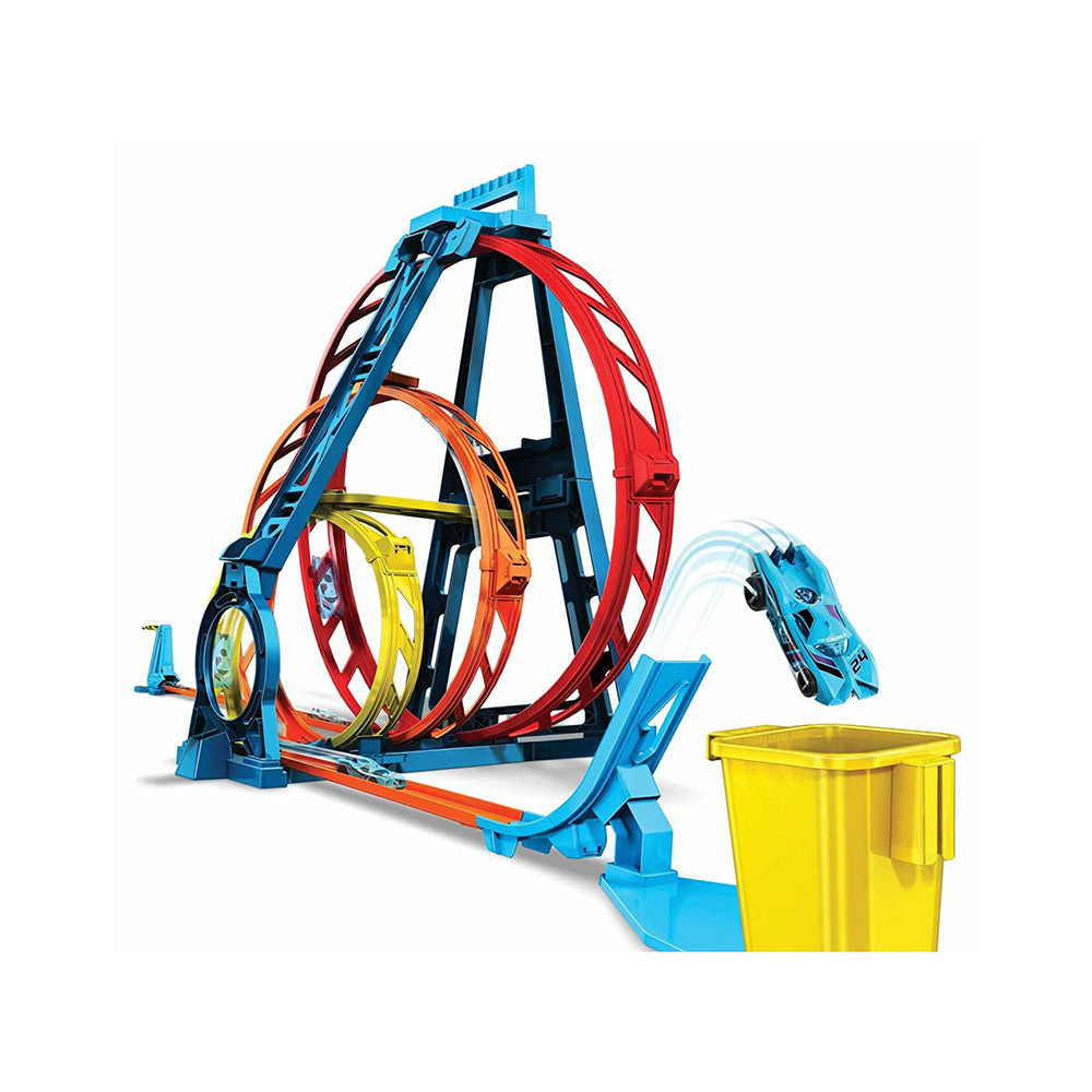 Набор Хот Вилс Track builder Тройная петля / Hot Wheels Track Builder Unlimited Triple Loop Kit GLC96