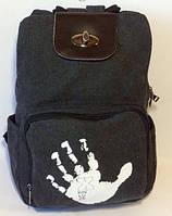 Женский рюкзак. Сумка рюкзак из холста. Портфель. СР11-1