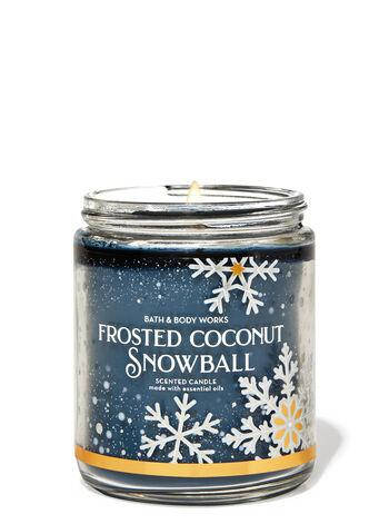 Свеча ароматизированная Bath and Body Works Frosted Coconut Snowball Scented Candle 198 г, фото 2