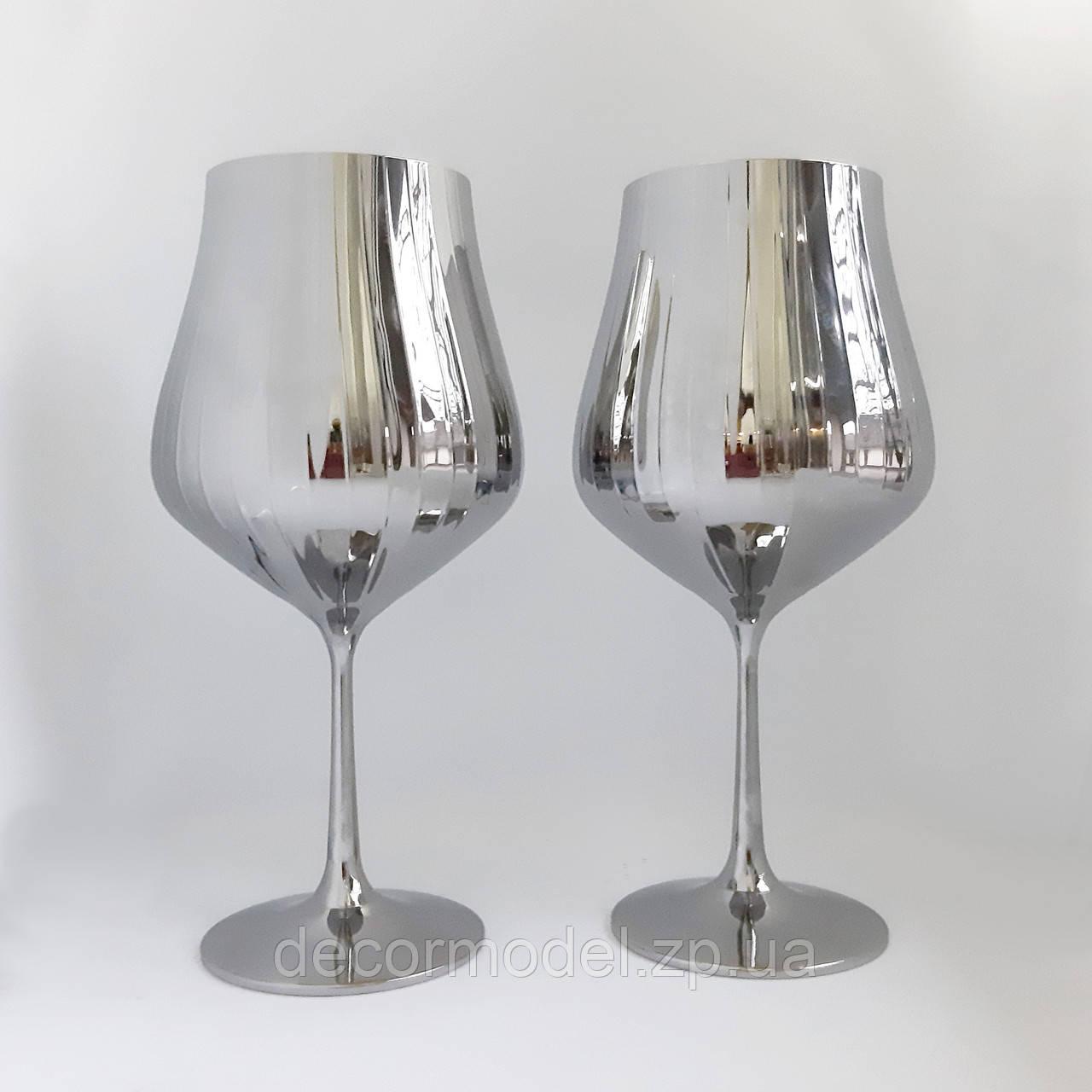 Набор бокалов для вина Bohemia Tulipa optic 600 мл хром