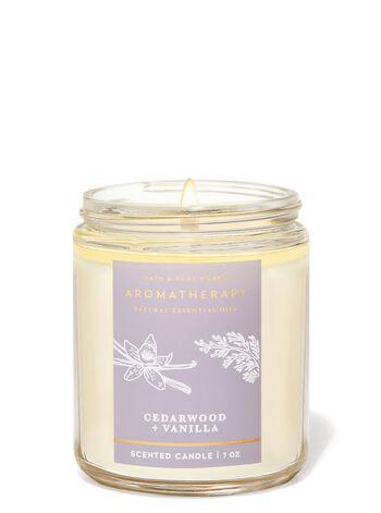 Свеча ароматизированная Bath and Body Works Aromatherapy Cedarwood and Vanilla Scented Candle 198 г