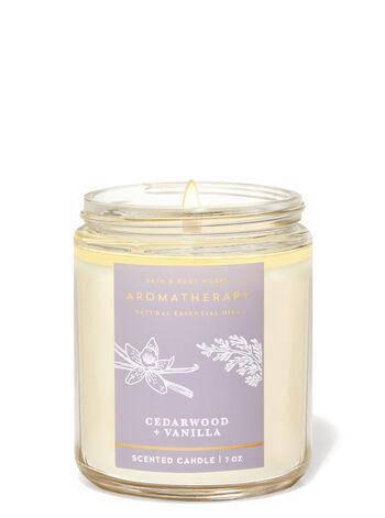 Свеча ароматизированная Bath and Body Works Aromatherapy Cedarwood and Vanilla Scented Candle 198 г, фото 2