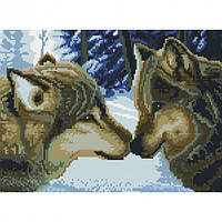 Алмазная вышивка мозаика Белоснежка Два волка 30 х 40 RN 170, КОД: 395377