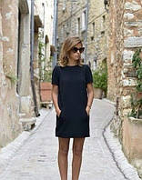Платье короткое с карманами из коттона, фото 1