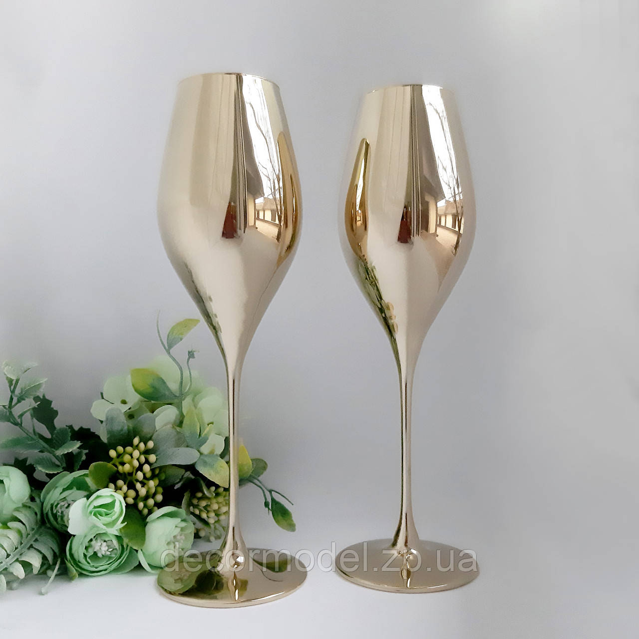 Набор бокалов для шампанского Rona Swan 320 мл 6 шт золото