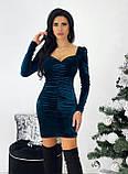 Сукня жіноча вечірня оксамитове, фото 2