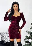 Сукня жіноча вечірня оксамитове, фото 3