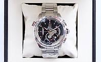 Наручные часы Tag Heuer carrera calibre 36 кварцевый хронограф на стальном браслете и индикатором даты