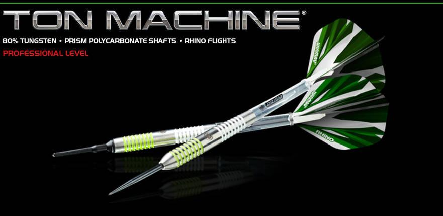 Набор дротиков для игры в дартс Winmau Ton Machine из вольфрама, фото 2