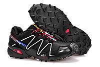Кроссовки мужские беговые Salomon Speedcross (саломон) черные 44