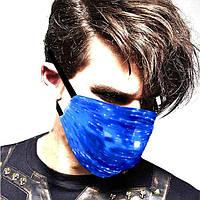 Светодиодная многоразовая светящаяся LED маска для лица Bwill 2.5PM Разноцветная CW-P5, КОД: 2392022