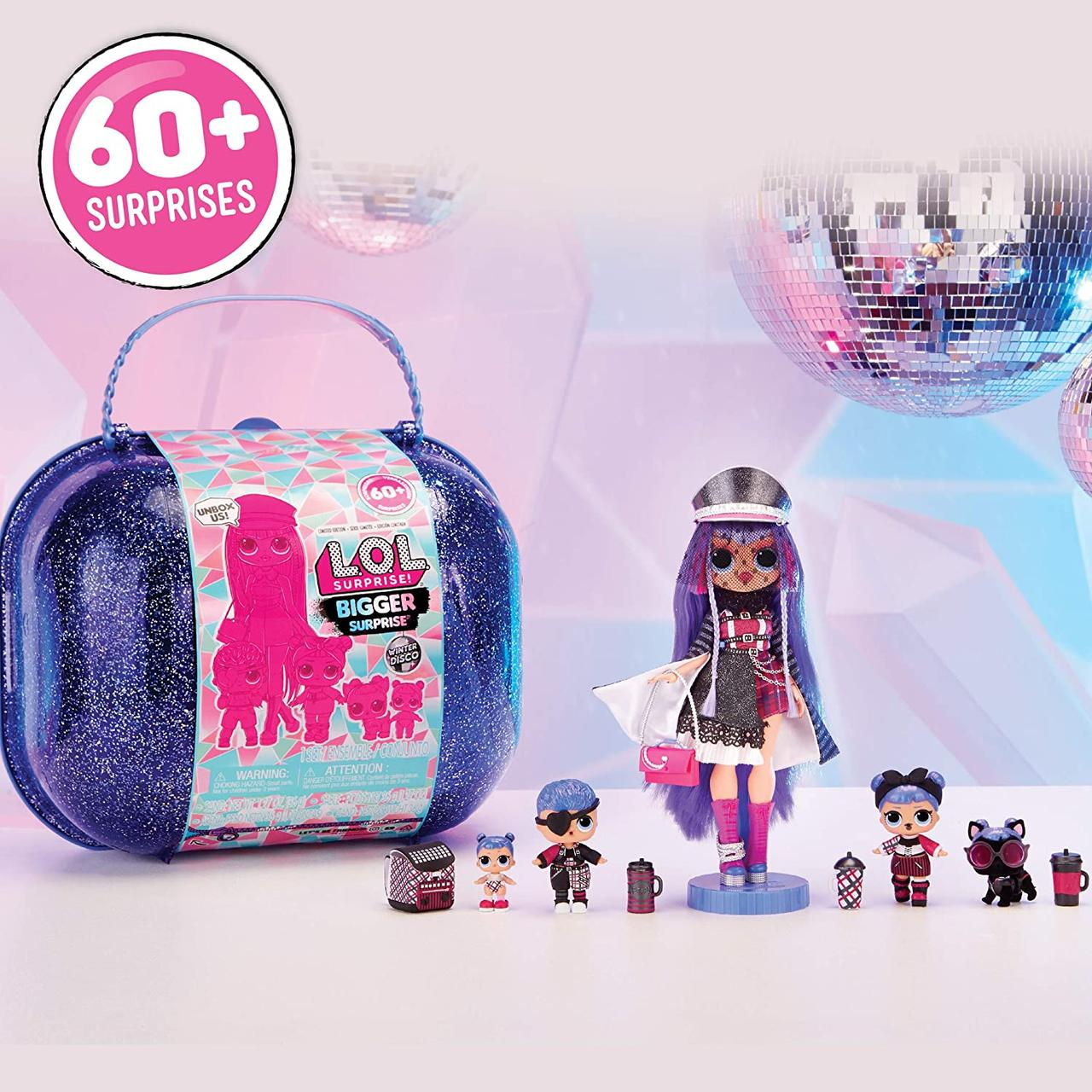 Игровой набор Большой чемодан Лол зимнее диско L.O.L. Surprise! Winter Disco Bigger Оригинал!!!