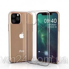 Ультратонкий силиконовый чехол 0.75mm на iPhone 12 MAX - прозрачный