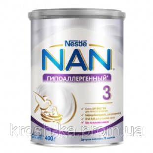 Смесь молочная сухая Nan 3 Гиппоалергенный с рождения 400га Nestle Швейцария 1010028