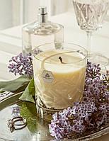 Роскошная натуральная ароматическая свеча в кристалле - эфирные масла - Герань, Апельсин и Бергамот - Laura