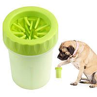 Стакан для миття лап собакам Soft Gentle Silicone Bristles зелений (0490), лапомойка   лапомойка для собак