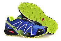 Кроссовки мужские беговые Salomon Speedcross 3 (саломон) синие 43