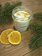 Свеча из соевого воска, органическая, натураная свеча, Новогодняя свеча, свечи ароматизированные, свічки, аром