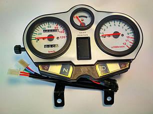Спидометр Defiant 125-J, 120 км/ч, тахометр электронный, фото 2