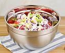 Кухонная миска для смешивания из нержавеющей стали Ø24 см, фото 3