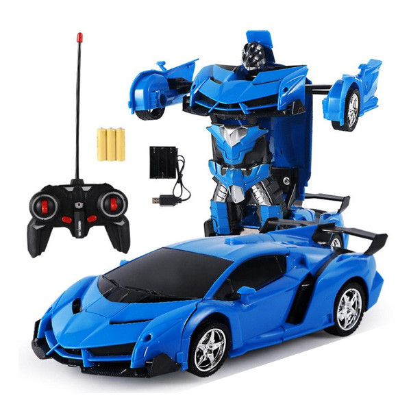 Машинка Трансформер Lamborghini Robot Car Size 18 - Синяя
