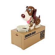 Опт Интерактивная Собака-копилка My Dog Piggy Bank - Коричневая