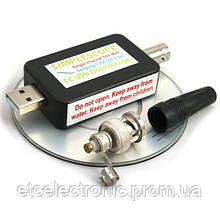 Одноканальный цифровой USB осциллограф с щупами
