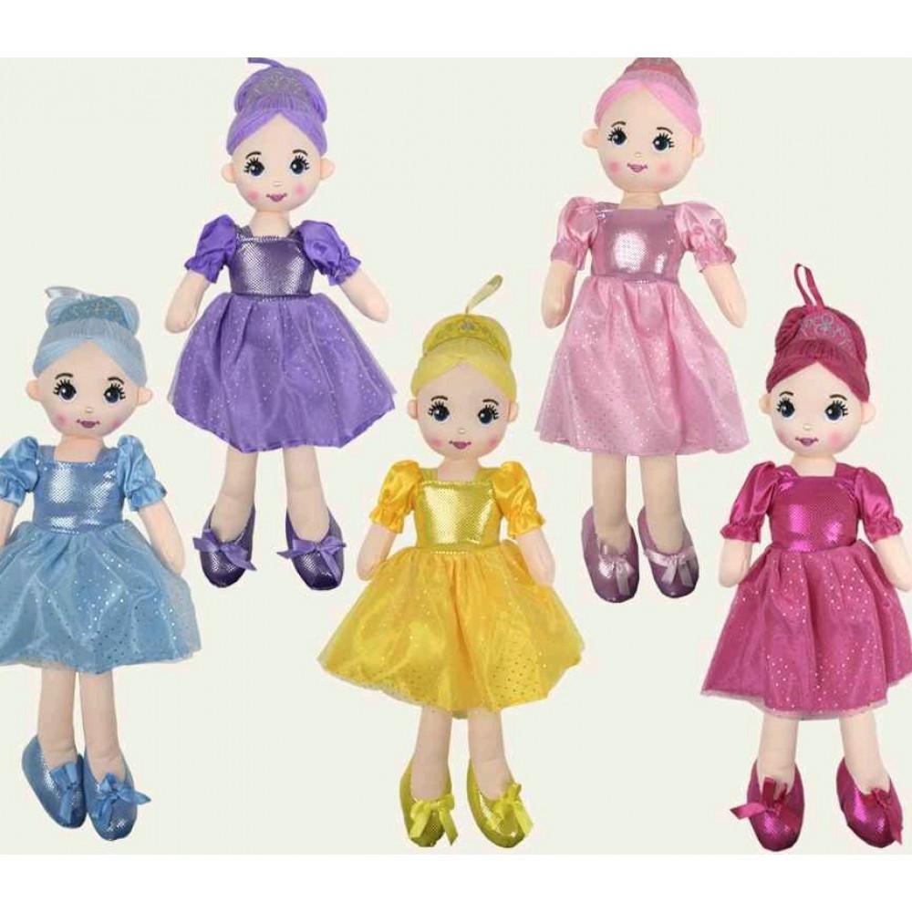 Лялька м`яка CEL-149 5 видів висота ляльки 50см в пакеті 20 * 70 см