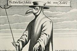 Как выглядел респиратор в XIV веке?