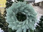 Литой Веночек новогодний голубой 40 см декоративный, фото 2