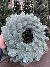 Литой Веночек новогодний голубой 40 см декоративный, фото 5